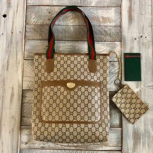 🔥🔥 Authentic Vintage Gucci Plus tote bag🔥🔥